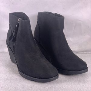 BOBS by Skechers Tumbleweed Black Ankle Booties